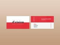 Division Model Management Business Card Design