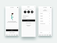 Wireframes: App Login & My Account