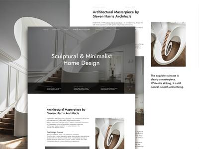 Architecture Studio Website Concept invision studio web design typography circular user experience user interface architecture minimalist