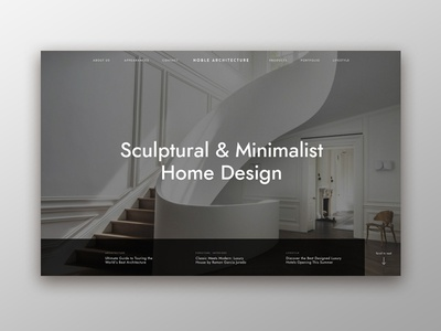 Architecture Studio Landing Concept landing page minimalist architecture user interface user experience circular typography web design invision studio