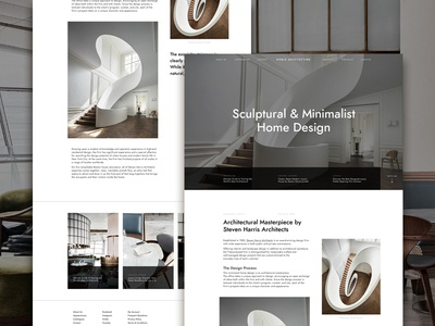 Architecture Studio Article Page invision studio web design typography circular user experience user interface architecture minimalist landing page