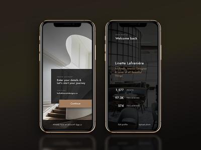 Architecture Studio Signup Page 001 dailyui 001 dailyui architecture art direction user experience user interface luxury brand minimalist app design web design invision studio