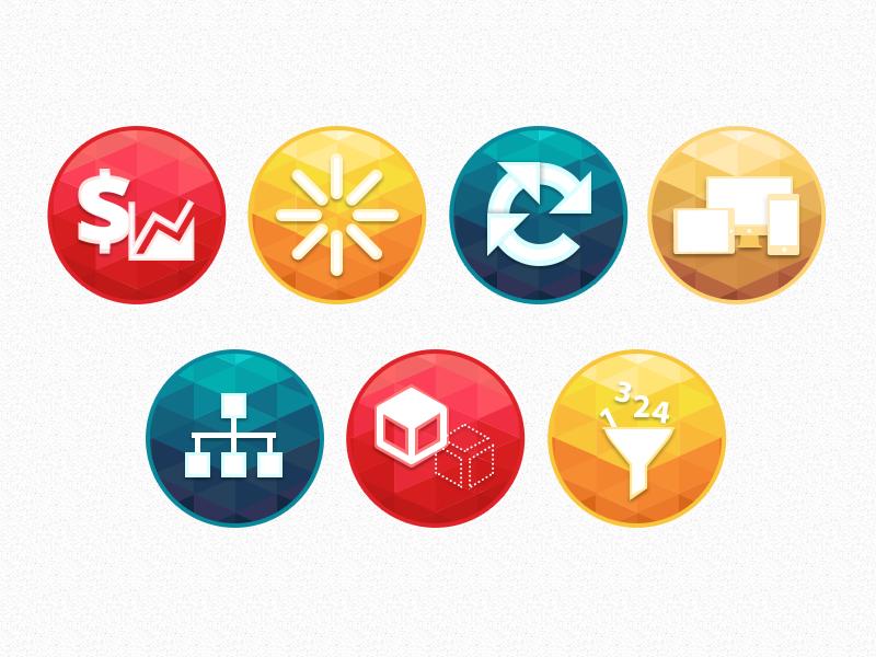 Icons geometric triangle polygonal virtuemart shapes icons marketplace joomla webkul