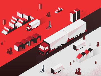 Logistics Isometric Illustration