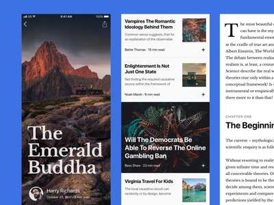 Longread typography read news article iphonex
