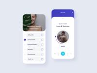 Meditation App uiux practise minimal ux ui figmadesign figma music sound design mobile sleep relax meditation ios clean design android apple app design app