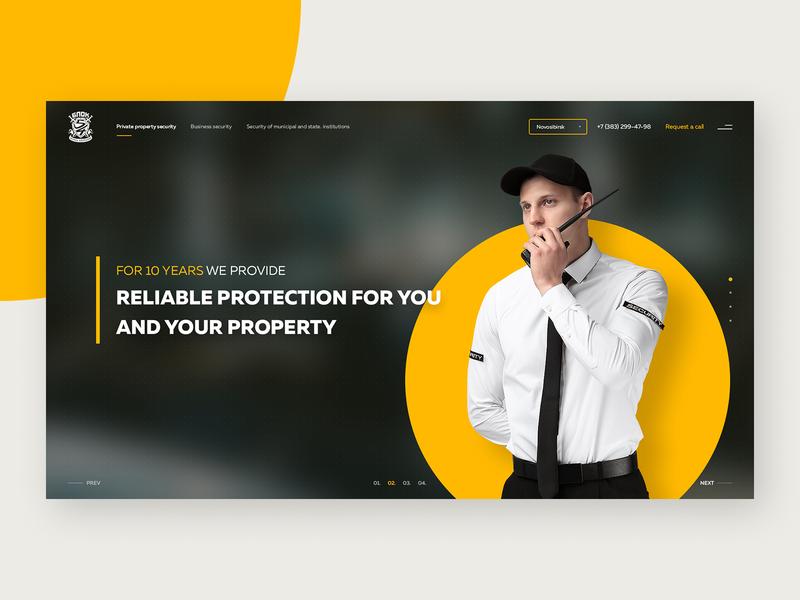 Security Agency Website minimal agency security website webdesign corporate website figmadesign figma design ux ui