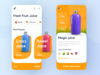 Fresh Fruit Juice Shop App Design