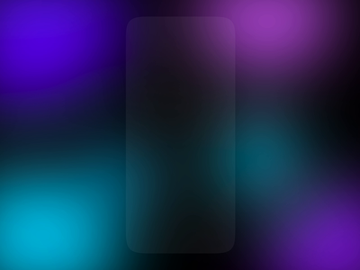 Animation of banking app in blurry dark theme 🟣 wallet aftereffects animation banking bank blur blurry colorful ui 2020 trend clean app