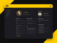 Yellow Images profile page skeuomorphic redesign