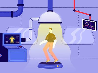 Teleportation clip rig flat characteranimation flatdesign character design illustration aftereffects animation motion