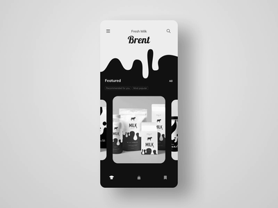 Grocery App food interaction interface app animation ui mobile
