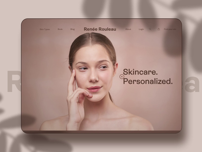 Skincare Website Animation e-commerce app parallax scrolling effect microinteraction homepage landing page personalization skin type 3d motion interaction skincare brand ecommerce online shopping store scroll hover effect 3d clean elegant brown feminine women girl skincare beauty makeup animation motion gif web website ui ux design after effects ae interface