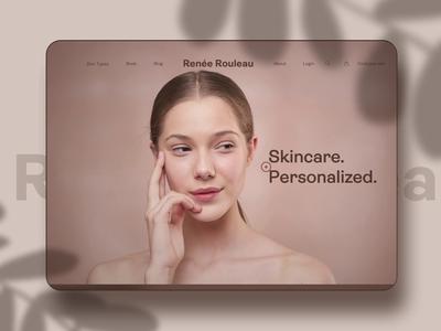 Skincare Website cosmetics makeup beauty interface website ui landing page parallax skincare animation web