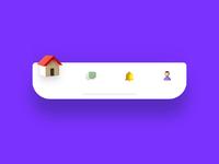 3d tab bar icon exploration mobile app animation navigation navbar tabbar tab bar