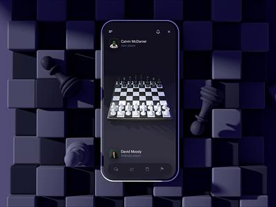 Chess ui 3d c4d animation app mobile