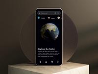 Explore the globe - travel app animation mobile