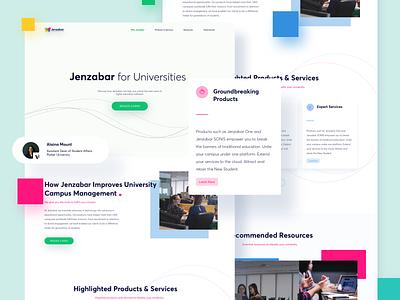 Jenzabar Website Redesign education website web