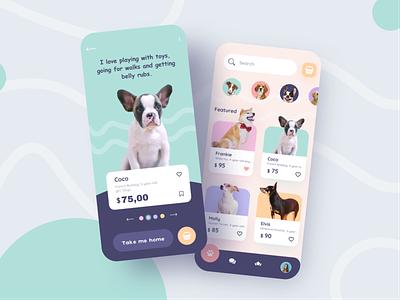 Pet Shop Mobile App Design petshop cat dog pet design ui mobile interface app