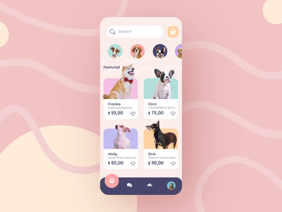 Sound on! --- Pet Shop App Animation after effects design ux interaction ui mobile interface animation app