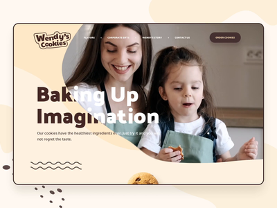 Wendy s Cookies Website after effects ux ui website interaction interface animation design web