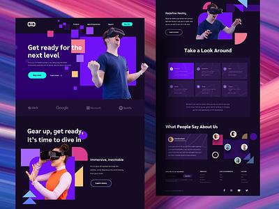 VR Headset Website Design headset vr website ui design web