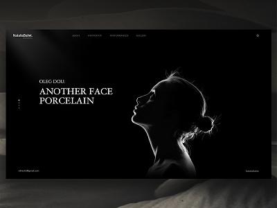 Complete Design of Natalia Ballet dancer dance sketch photoshop download ui art black site website web ballet