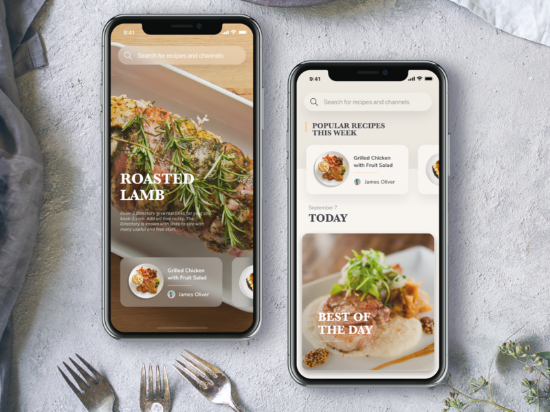 Food App Homepage Concept food recipe recipes chef ux ios app design ui
