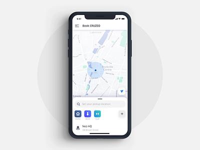 Ridesharing App ui interaction interface uber ridesharing animation app mobile