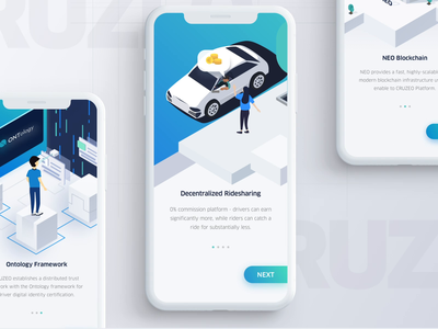 Onboarding - Ridesharing App uber blockchain illustration onboarding ridesharing animation app mobile