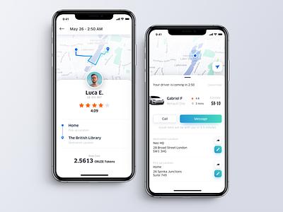 Ridesharing App uber ridesharing ui app mobile interface