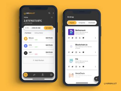 Airwallet - Crypto Wallet App Project