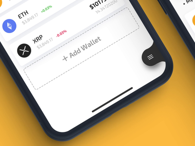 AirWallet Mobile App - Menu Animation tabbar menu navigation navbar tab bar