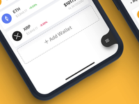 AirWallet - Menu Animation