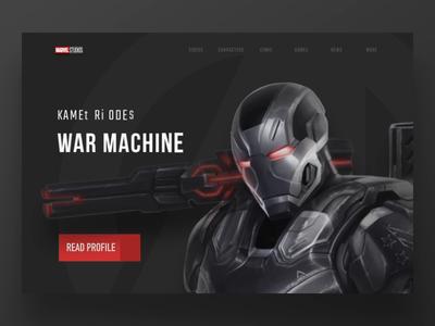 Marvel website redesign animation