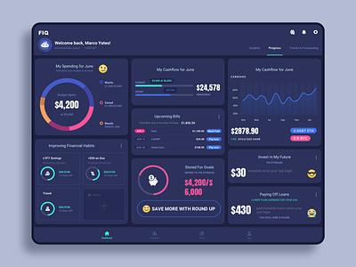 Dashboard - Tablet App financial interface mobile dashboard ui finance app tablet