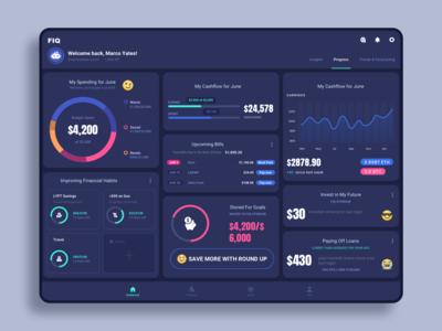 Personal finance app - tablet version