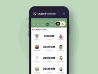 Soccer league mobile app - change league animation