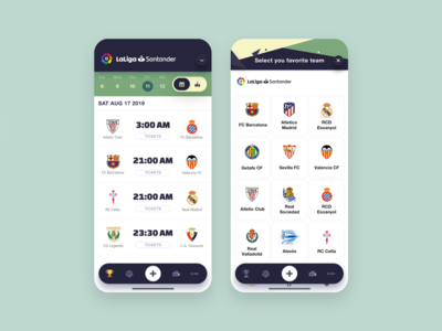 Soccer league mobile app