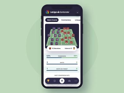 Soccer league mobile app animation