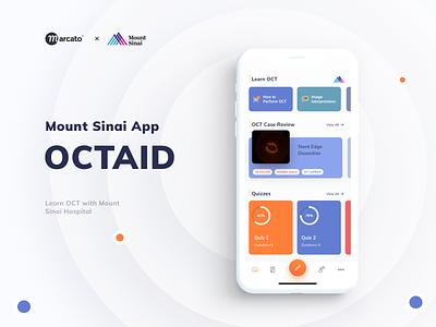 Medical & Educational App for Mount Sinai health interface ux ui hospital app mobile