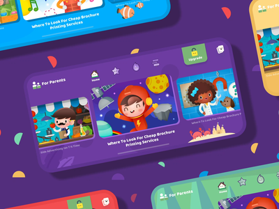Papumba Academy learning app for kids kid child illustration art icons games cute home screen study students parents children educational fun learning app for kids interface animation motion gif after effects ae interface ios iphone x iphonex mobile app ui ux design