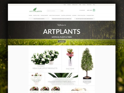 Artplants Sales Site  branding web design simplistic clean rebranding ecommerce