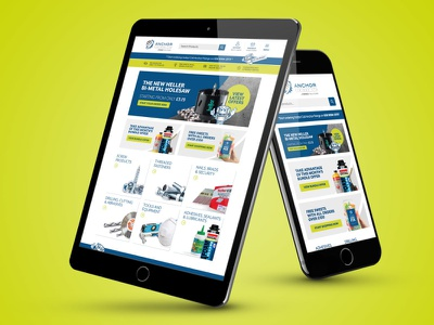 Anchor Fixings new site ux b2b sales branding responsive design