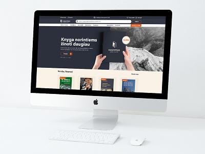 """""""EUGRIMAS"""" el. parduotuvės dizainas books branding web ui cechas uiux design levinskas alius"""