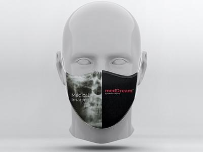 """medDream"" veido kaukės dizainas mask face branding cechas design levinskas alius"