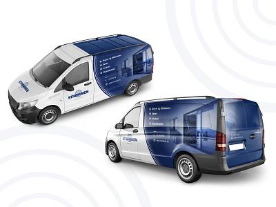 """Strommen"" autobusiuko apipavidalinimo dizainas branding cechas design levinskas alius"