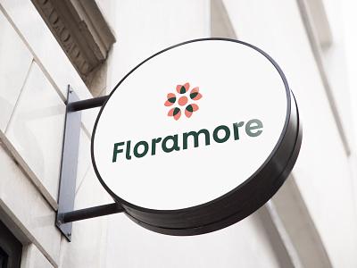 """Floramore"" logotipas flower branding logo design levinskas alius"