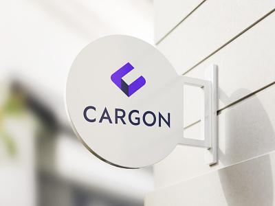 """Cargon"" logotipas shipping logo branding design levinskas alius"