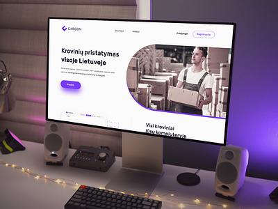 """""""Cargon"""" puslapio dizainas web uiux design levinskas alius"""
